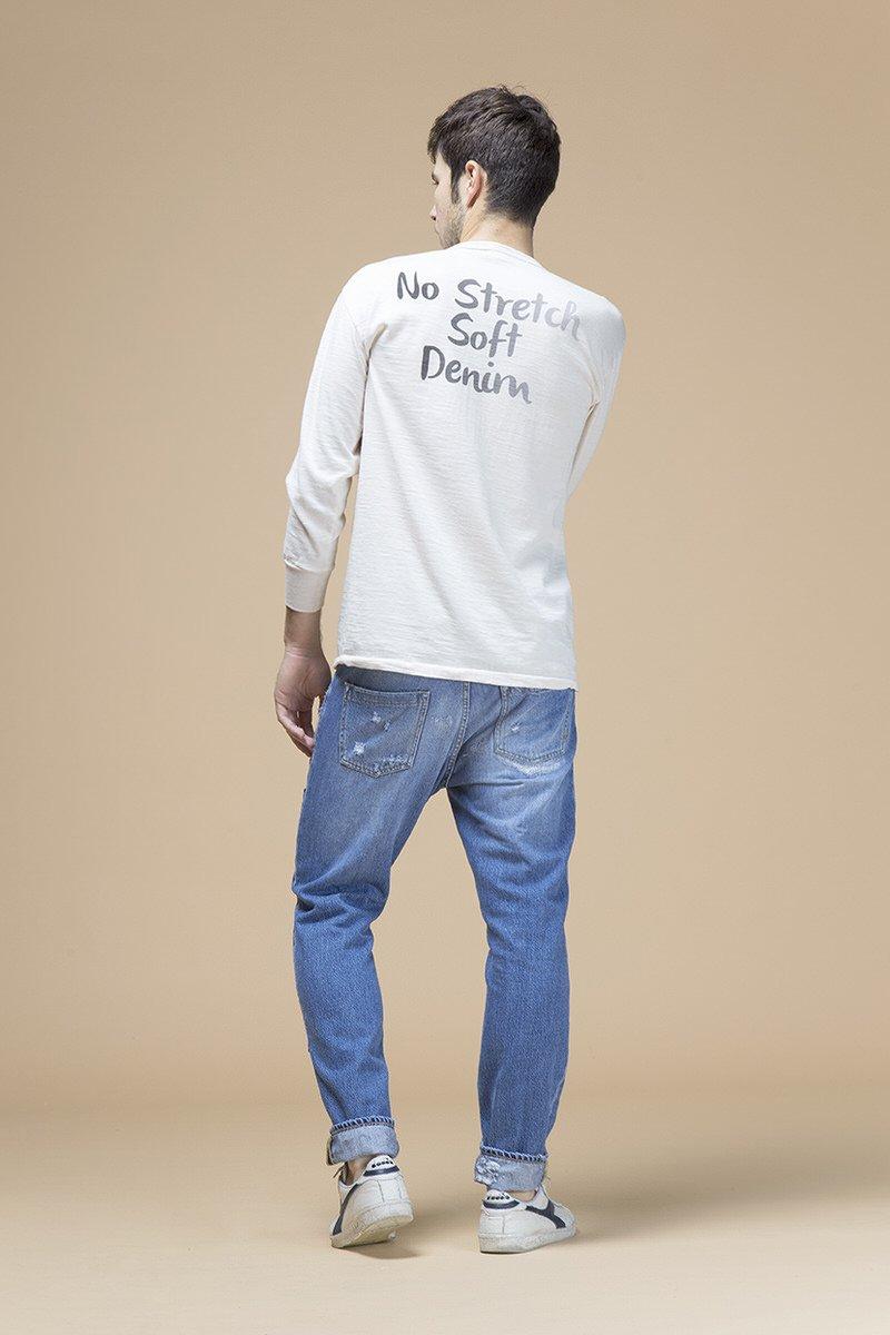 Bad, jeans slouchy, denim blu fisso 12 once, retro