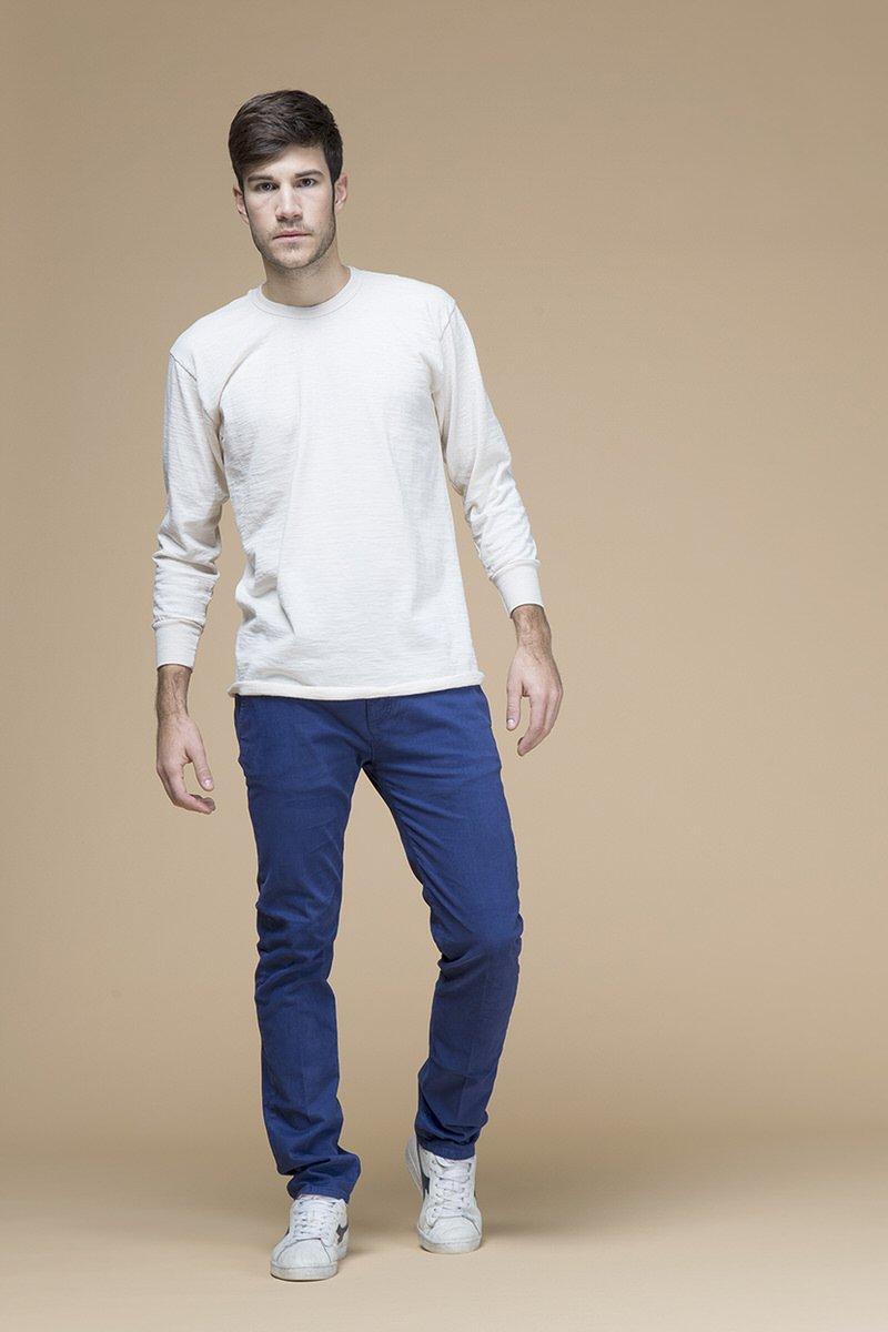 Chino, pantalone slim, front