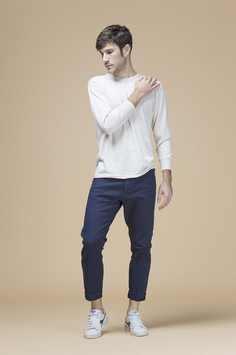 Farran, pantalone slouchy cropped, front