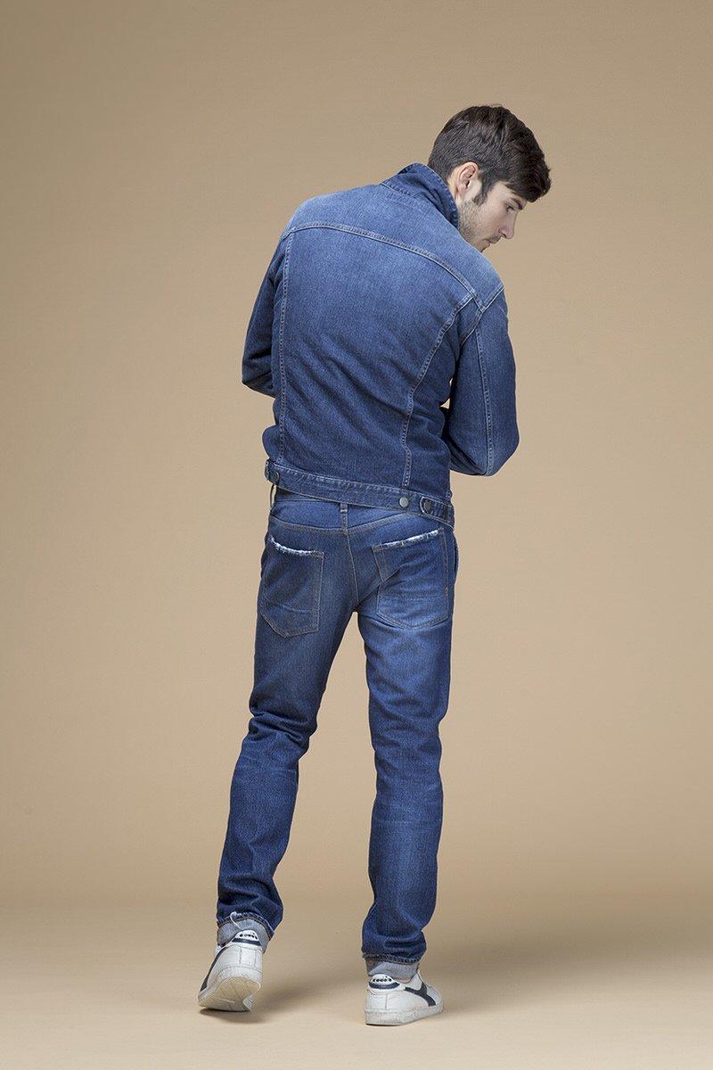 Gobi Trump, giacca di jeans slim, retro