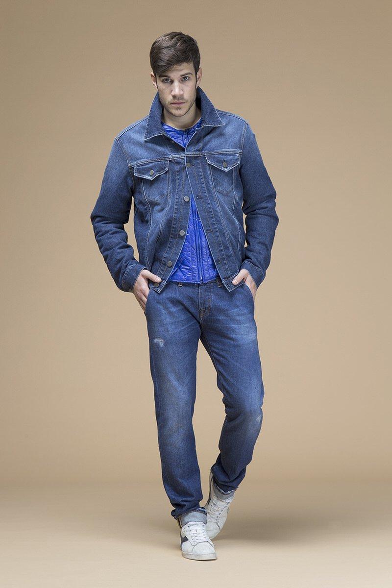 Gobi Trump, giacca di jeans slim, front