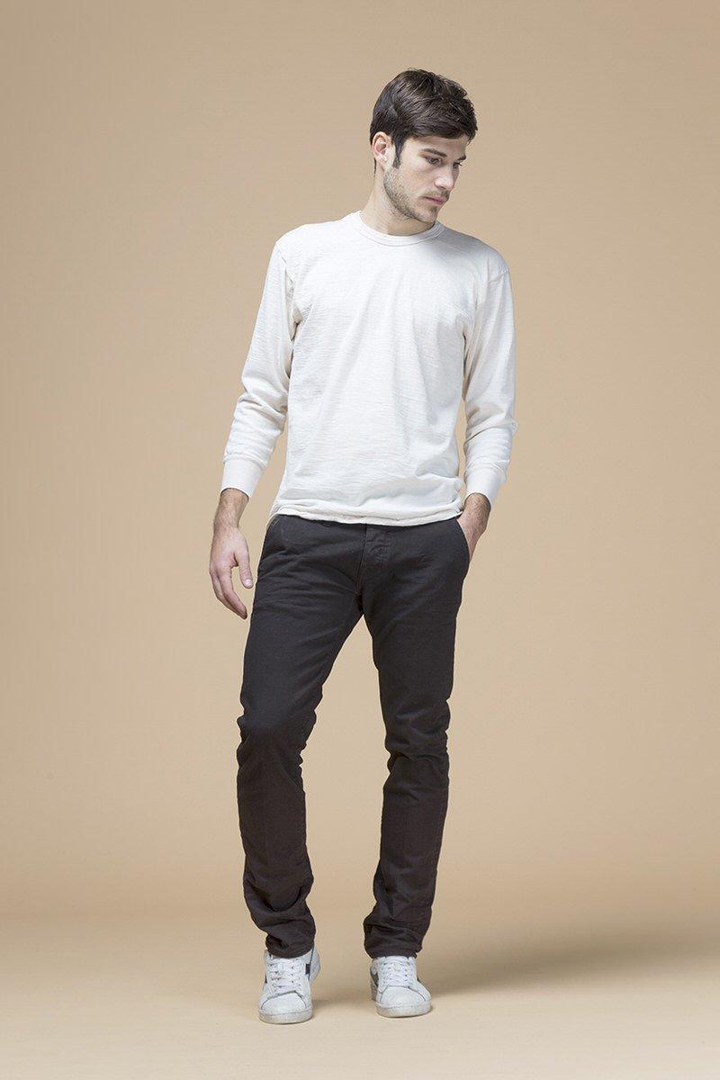 Lupin, pantalone slim, tessuto bull stretch, front