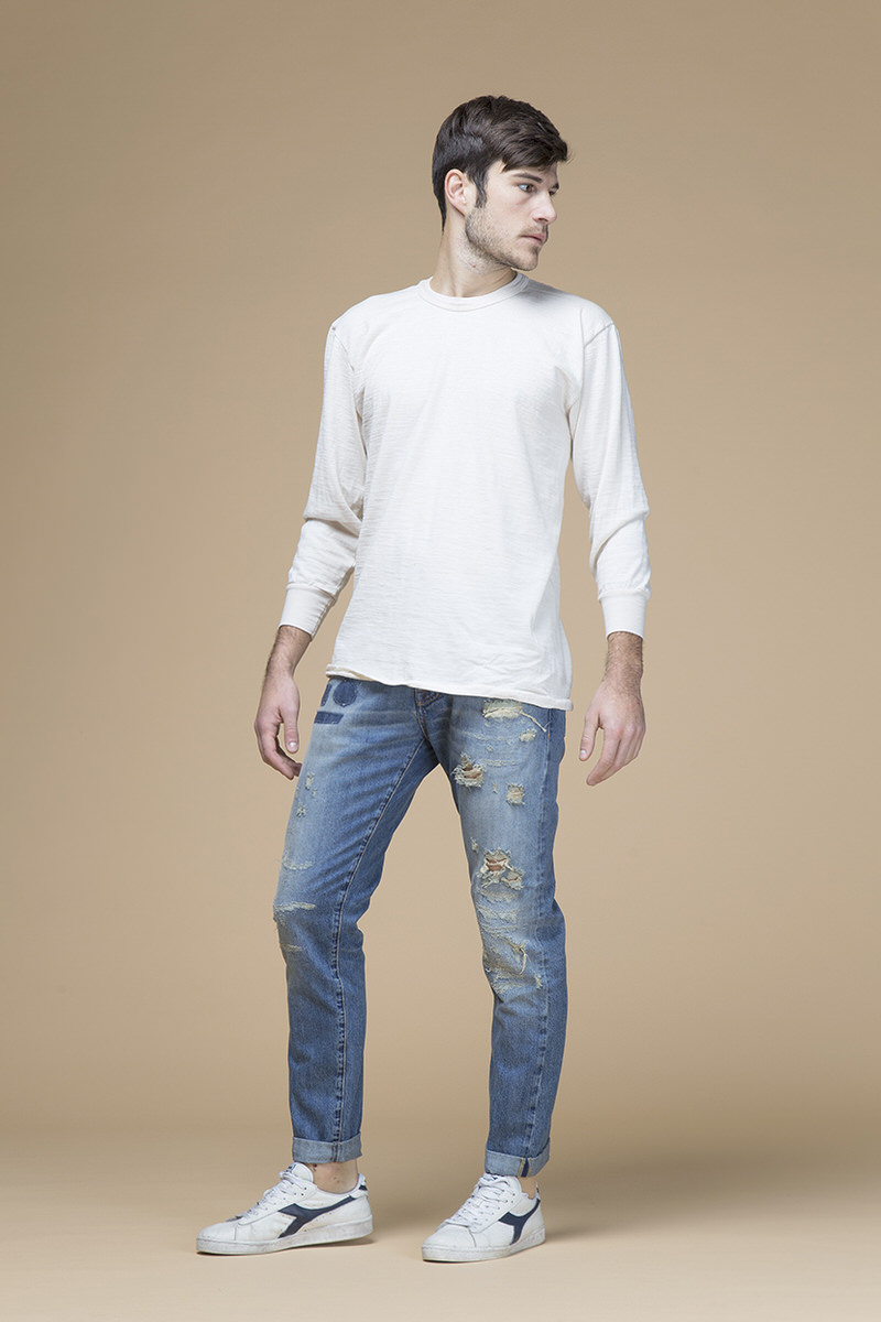 Marco, jeans slim slouchy, 11 once, front
